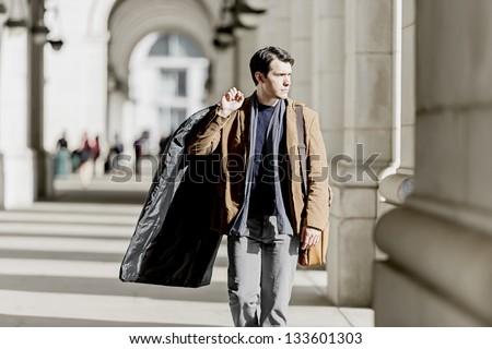 Business Traveler Returning Home