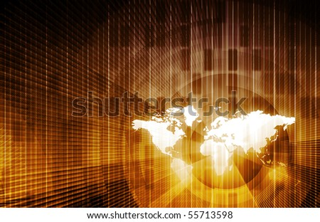 Business Trends and Monitoring Data as a Concept - stock photo