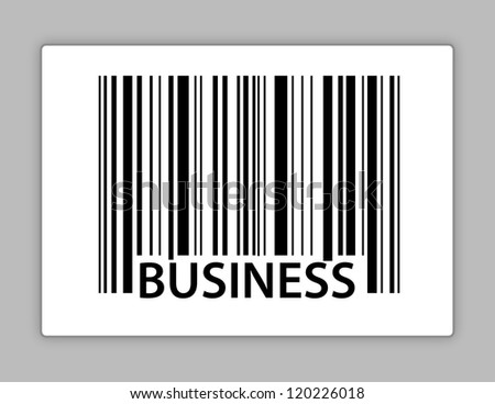 business upc code illustration design over white