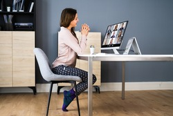 Business Video Call Dressed In Funny Pijama