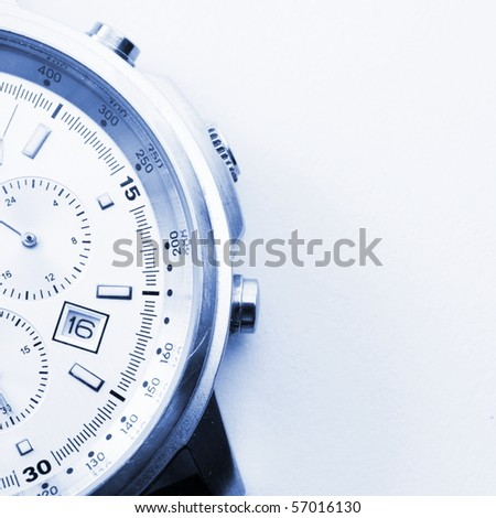 business watch and copyspace showing time concept