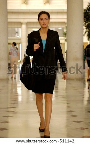 Business woman at Union Train station In Washington DC
