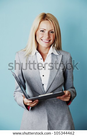 business woman close up
