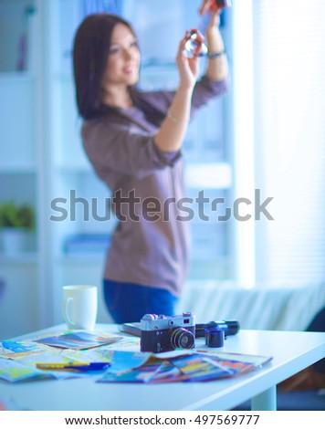 Business woman in art studio #497569777