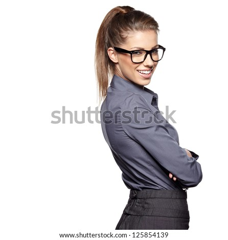 business woman in glasses #125854139