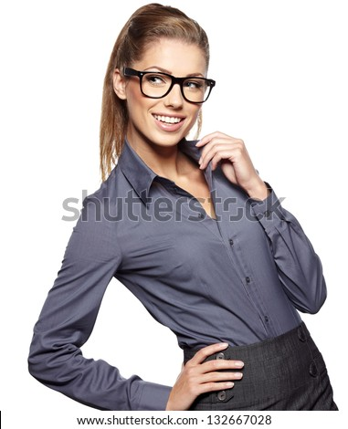business woman in glasses #132667028