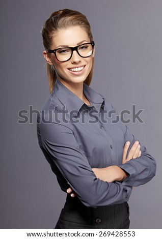 business woman in glasses  #269428553