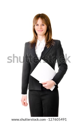 business woman isolated on a white background