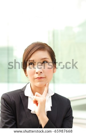 Business woman making a decision