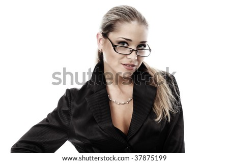 Business woman on a white background #37875199