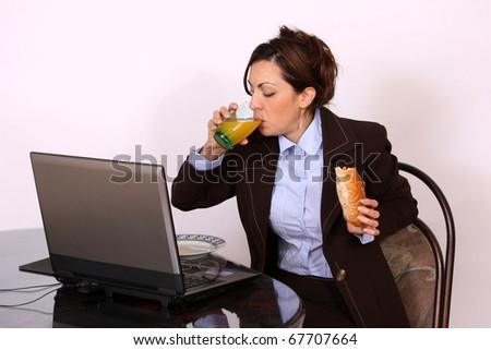 Business woman on break time