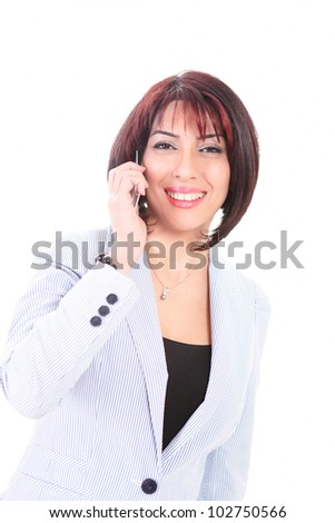 Business woman on Smart phone