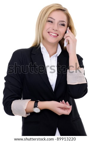 business woman on white background business concepts