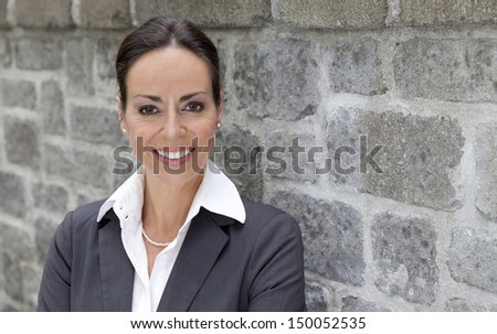 Business woman outside - stock photo