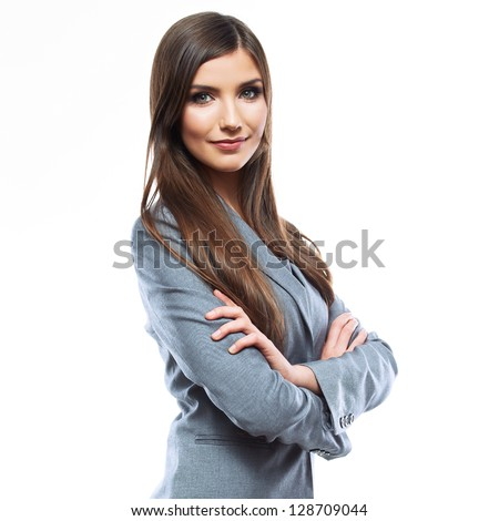 Business woman portrait . Crossed arms  . #128709044