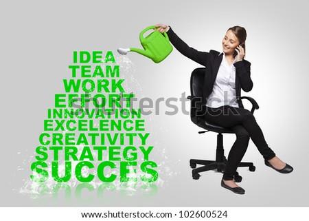 business woman - success business concept