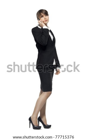 business woman talking on phone. see more on my page