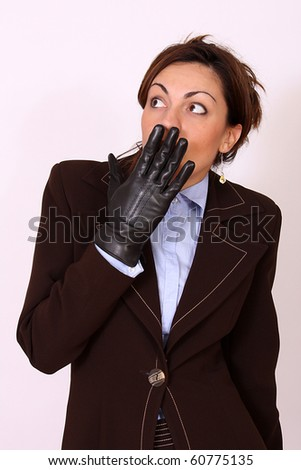 Business woman under stress condition