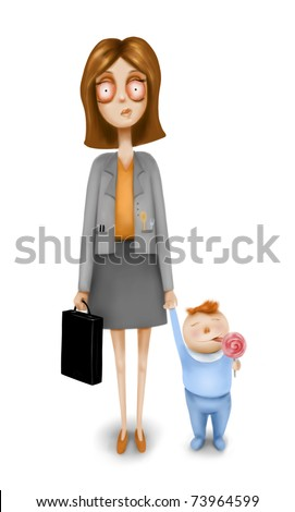 Business woman with a child