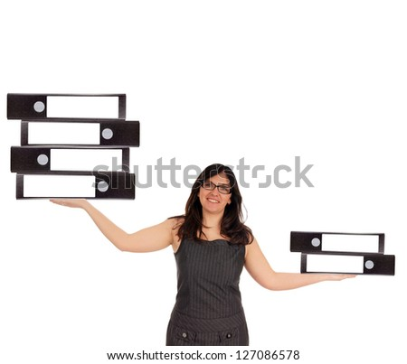 Business Woman with file folders / Business Woman