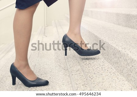 business woman with high heel...