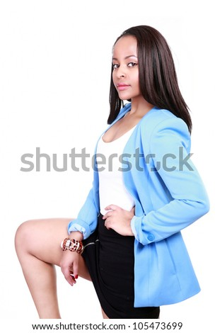Business woman with street smart attitude