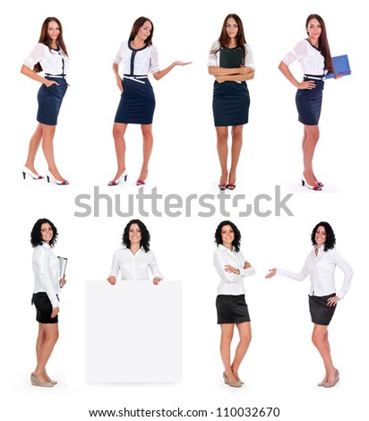 business women collection isolated on white