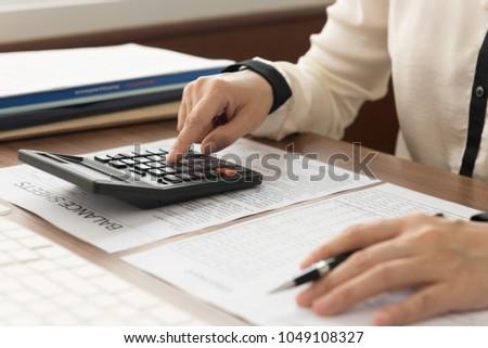 business women reviewing data...