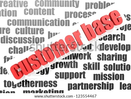 business word of customer base