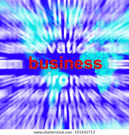Business Word Representing Trade Partnerships and Commerce