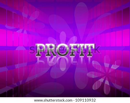 business wording with reflection on violet abstract background.
