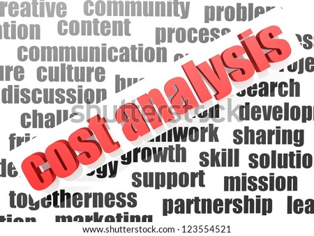 Business work of cost analysis