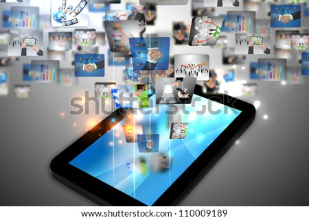 business world on tablet pc