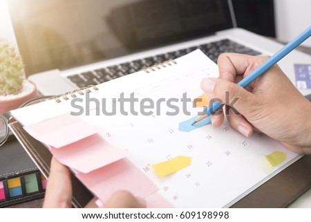 Business writing for working and schedule this month. Planner of meeting plan job.