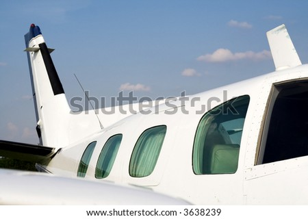 Businessman airplane. Small luxury jet plane for jet set