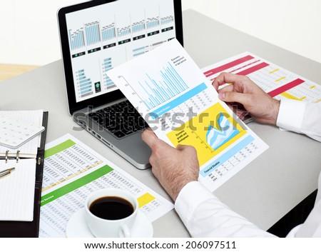 Businessman Analyzing Finances