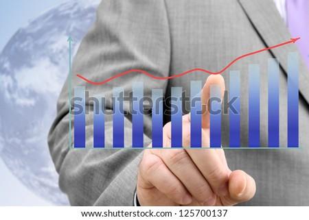 Businessman Analyzing Financial Chart - stock photo