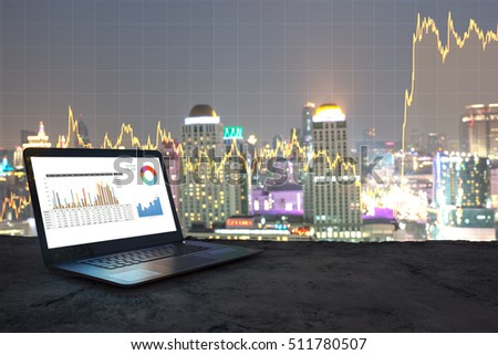 Shutterstock Businessman analyzing investment charts with laptop. Accounting