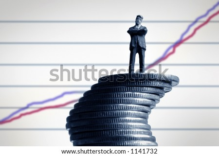 Businessman and a graph