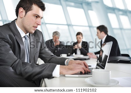 Businessman and business people