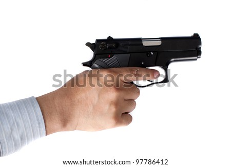 businessman and gun in hand
