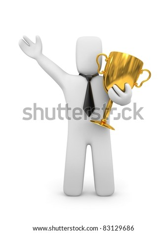 Businessman and prize