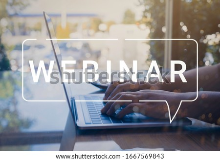 Businessman and team work using a Laptop Computer with Webinar E-business Browsing Connection and cloud online technology webcast concept, business concept