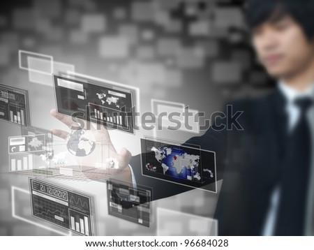 Businessman and technology