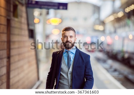 Businessman at the station #367361603