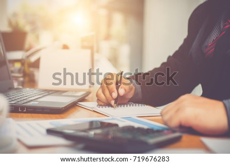 Businessman at working with financial reports Imagine de stoc ©