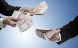 Businessman carry Thai money for invest, Fund management concept