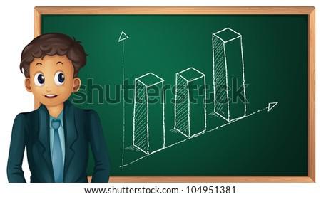 Businessman cartoon presenting on blackboard - EPS VECTOR format also available in my portfolio.