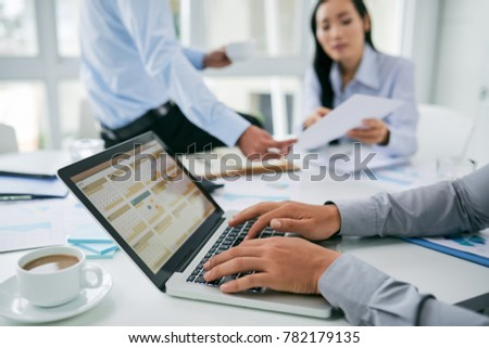 Businessman checking calendarwith daily agenda #782179135