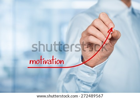 Businessman, consultant or human resources officer give you a motivation to growth (personal development).
